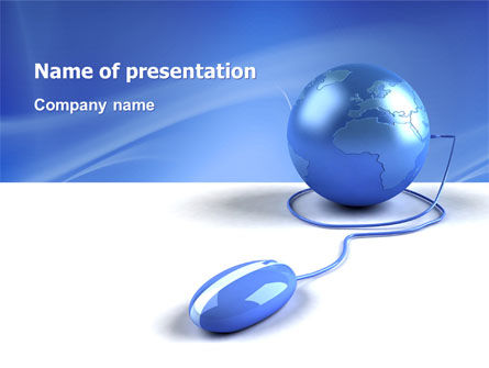 Computerized World PowerPoint Template, 03291, Global — PoweredTemplate.com