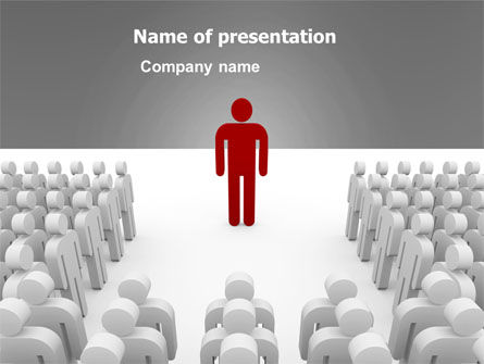 Majority Leader PowerPoint Template, 03293, 3D — PoweredTemplate.com