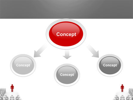 Majority Leader PowerPoint Template, Slide 4, 03293, 3D — PoweredTemplate.com