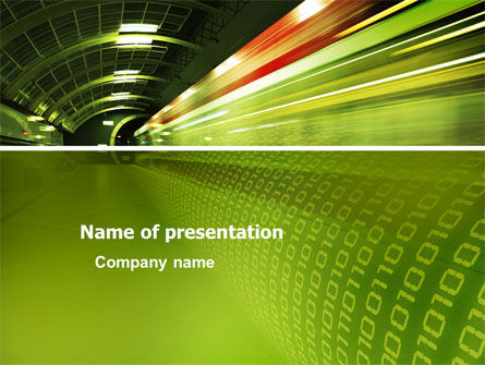 Technology and Science: Connections PowerPoint Template #03295