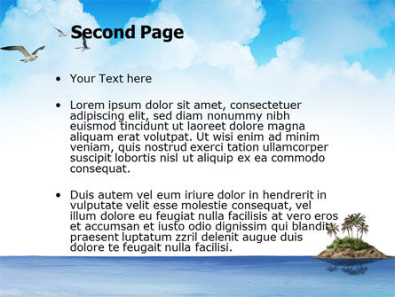 Tropic Island PowerPoint Template, Slide 2, 03297, Nature & Environment — PoweredTemplate.com
