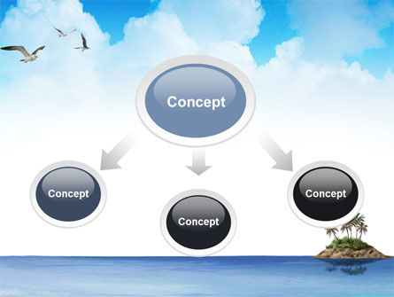 Tropic Island PowerPoint Template, Slide 4, 03297, Nature & Environment — PoweredTemplate.com