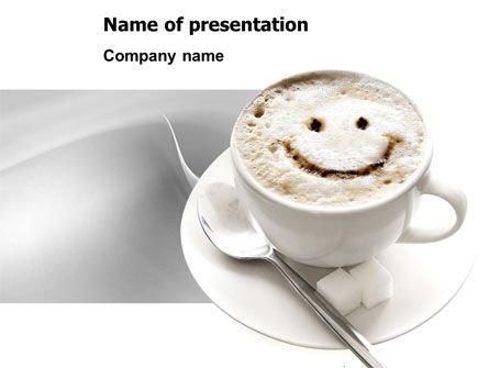Food & Beverage: Cappuccino Cup PowerPoint Template #03298