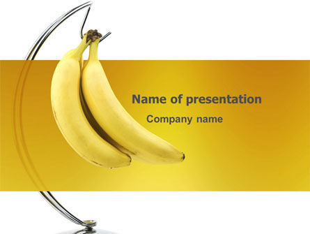 Food & Beverage: Bananas PowerPoint Template #03299