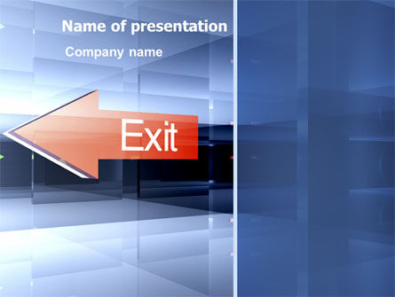 Consulting: Way To Exit PowerPoint Template #03300