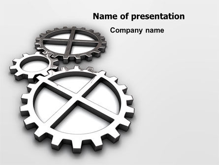 Utilities/Industrial: Gear Drive PowerPoint Template #03301