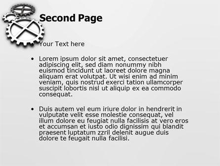 Gear Drive PowerPoint Template, Slide 2, 03301, Utilities/Industrial — PoweredTemplate.com