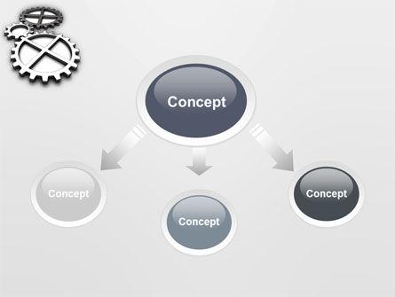 Gear Drive PowerPoint Template, Slide 4, 03301, Utilities/Industrial — PoweredTemplate.com