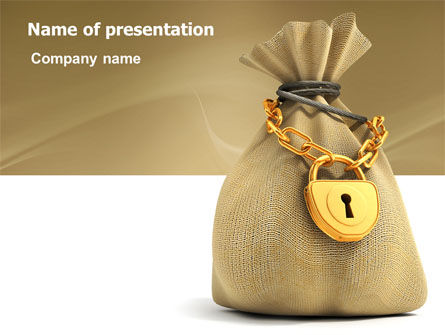 Financial/Accounting: Bag Of Wealth PowerPoint Template #03303