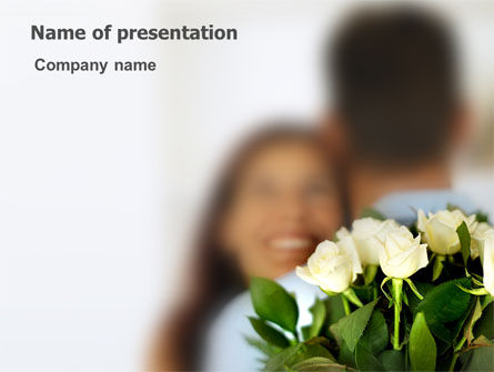 Loving Couple PowerPoint Template, 03305, Holiday/Special Occasion — PoweredTemplate.com