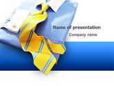 Careers/Industry: Business Style Shirt And Tie PowerPoint Template #03306