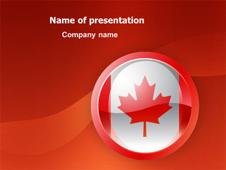 Flags/International: Canada Sign PowerPoint Template #03308
