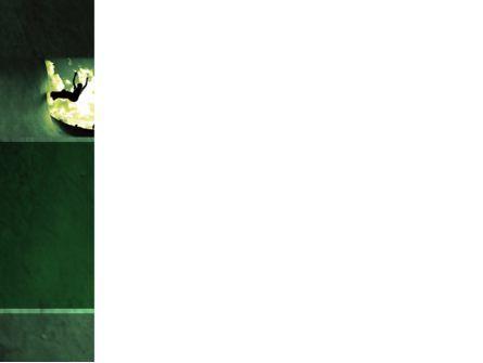 Skateboarder In A Green Colors PowerPoint Template, Slide 3, 03310, Sports — PoweredTemplate.com