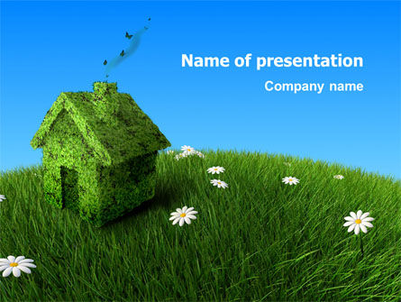 Real Estate: Country House PowerPoint Template #03311