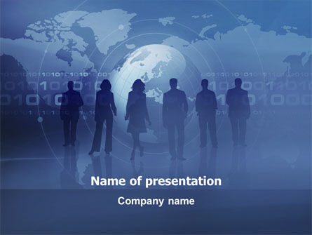 Global: People Silhouettes PowerPoint Template #03312