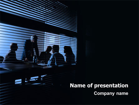Presentation At The Business Meeting Room PowerPoint Template