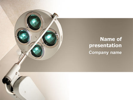 Illumination Of The Operation Room PowerPoint Template, 03314, Medical — PoweredTemplate.com