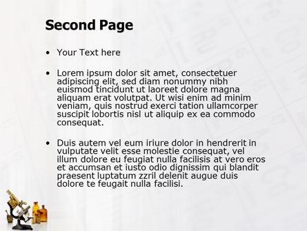 Microscope PowerPoint Template, Slide 2, 03316, Medical — PoweredTemplate.com