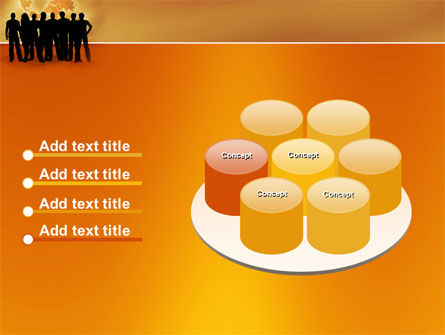 Silhouettes Of People's PowerPoint Template Slide 12