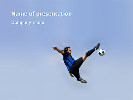 Sports: Football Ballet PowerPoint Template #03318