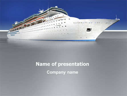 Cars and Transportation: Sea Liner PowerPoint Template #03319