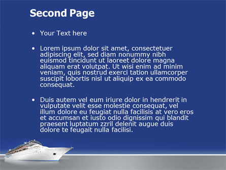 Sea Liner PowerPoint Template Slide 2