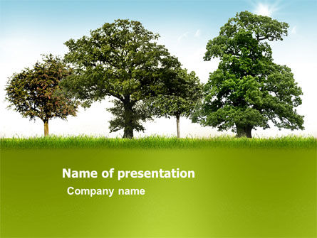 Nature & Environment: Trees PowerPoint Template #03321