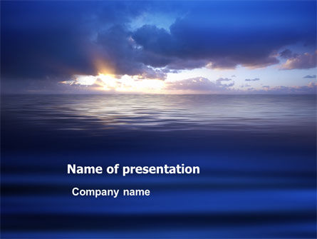 Sea Water PowerPoint Template, 03324, Nature & Environment — PoweredTemplate.com