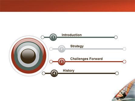 Orange Windsurf In A Gray Sea PowerPoint Template, Slide 3, 03325, Sports — PoweredTemplate.com
