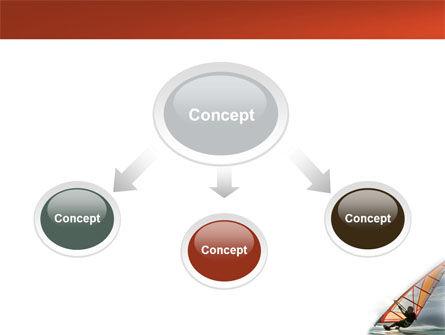 Orange Windsurf In A Gray Sea PowerPoint Template, Slide 4, 03325, Sports — PoweredTemplate.com