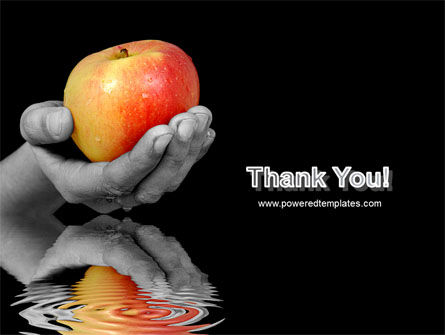 Reflection Of Apple In Hand PowerPoint Template Slide 20
