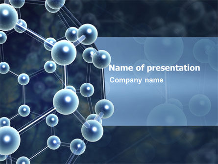 Molecular Structure Powerpoint Template Backgrounds