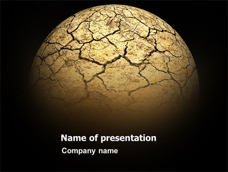 Nature & Environment: Desert Planet PowerPoint Template #03330
