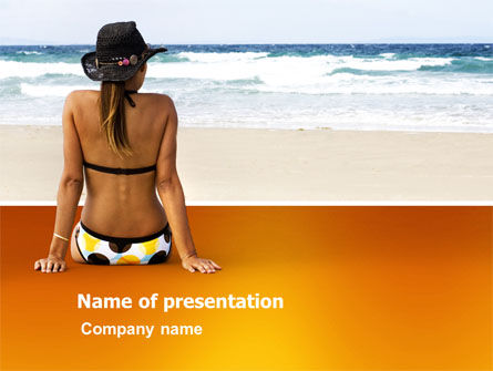 Holiday/Special Occasion: Sunny Beach PowerPoint Template #03331
