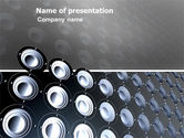 Art & Entertainment: Loud Speakers PowerPoint Template #03332