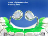 Medical: Teeth Braces PowerPoint Template #03334
