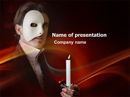 Art & Entertainment: Masked Ball PowerPoint Template #03337
