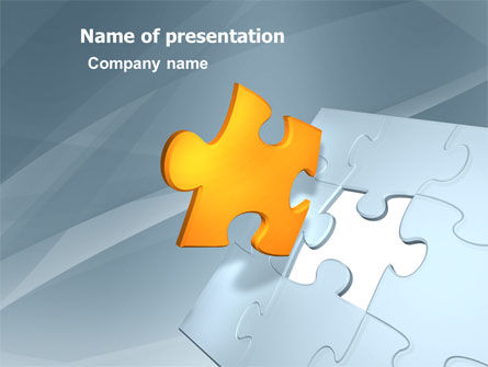 Business Concepts: Piece of Puzzle PowerPoint Template #03338