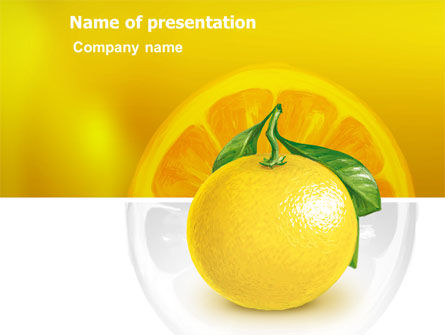 Agriculture: Yellow Citrus PowerPoint Template #03339
