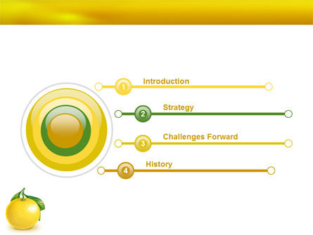 Yellow Citrus PowerPoint Template Slide 3