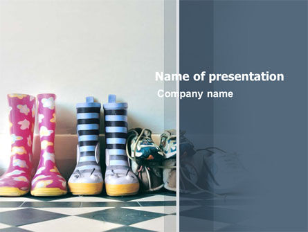 Children's Shoes PowerPoint Template, 03340, Education & Training — PoweredTemplate.com