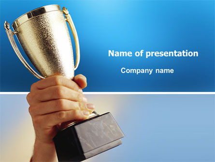 Business Concepts: Prize Cup PowerPoint Template #03341