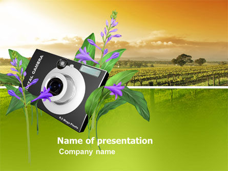 Digital Camera PowerPoint Template, 03342, Technology and Science — PoweredTemplate.com