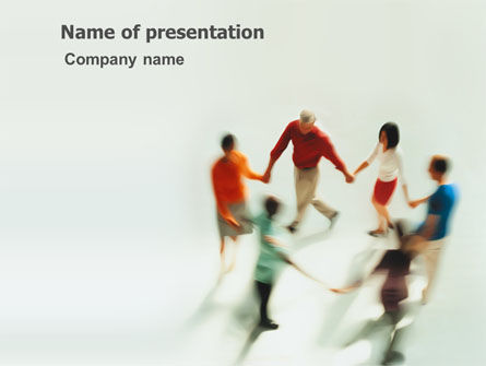 People: Dancing In The Ring PowerPoint Template #03344