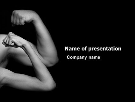 Sports: Muscles PowerPoint Template #03346