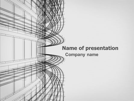 3D Architecture Projecting PowerPoint Template, 03348, Construction — PoweredTemplate.com