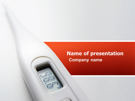 Medical: Electronic Thermometer PowerPoint Template #03351