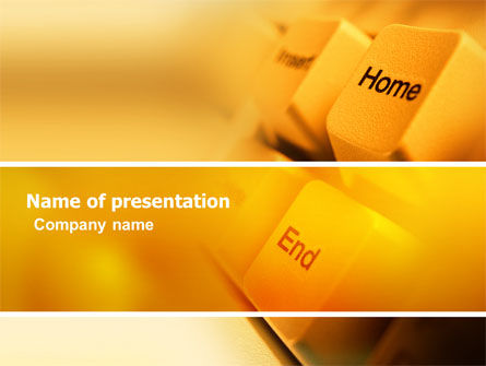Keyboard Buttons PowerPoint Template, 03352, Technology and Science — PoweredTemplate.com