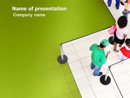 Queue PowerPoint Template, 03355, Consulting — PoweredTemplate.com