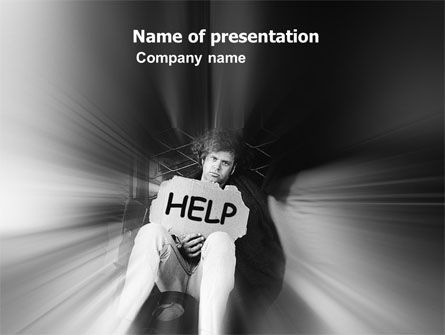 People: Hobo PowerPoint Template #03356